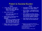 patient societal burden