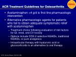 acr treatment guidelines for osteoarthritis