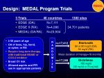 design medal program trials