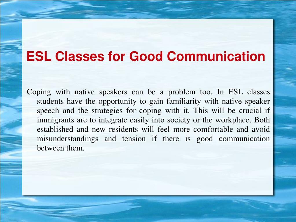 ESL Classes for Good Communication
