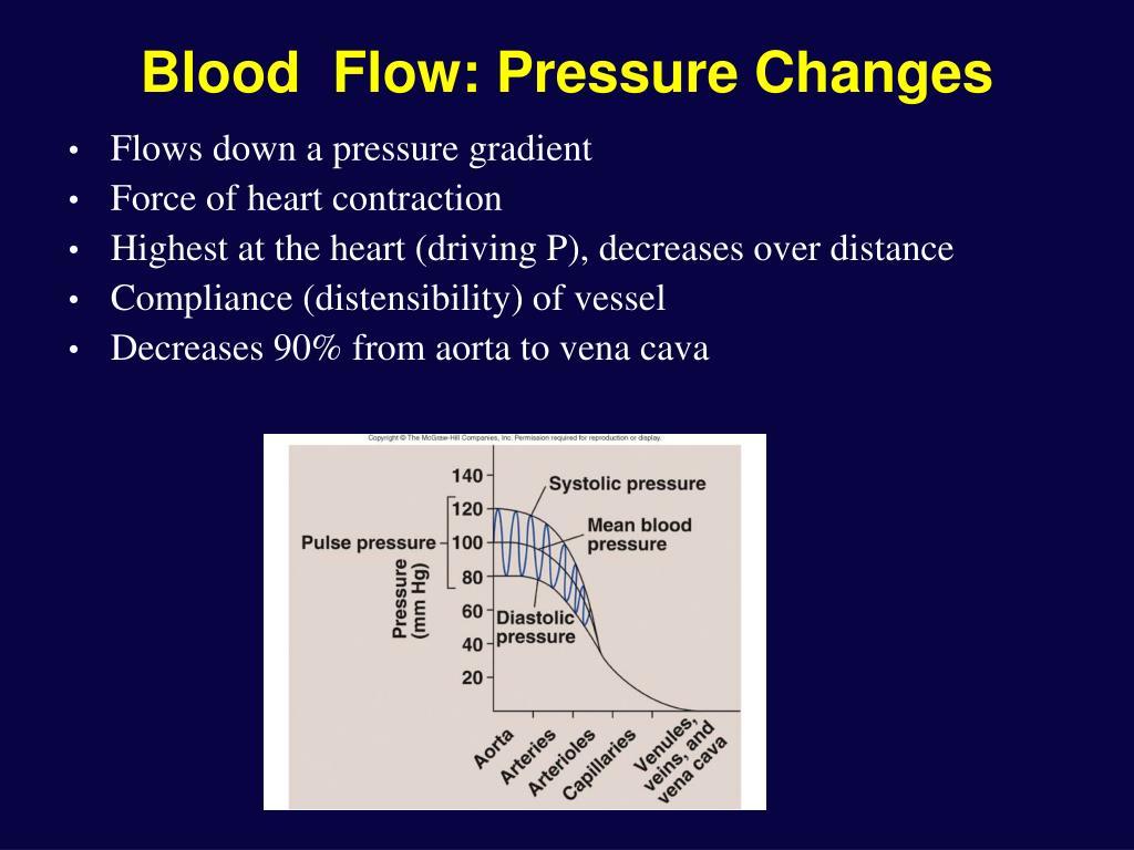 Blood  Flow: Pressure Changes