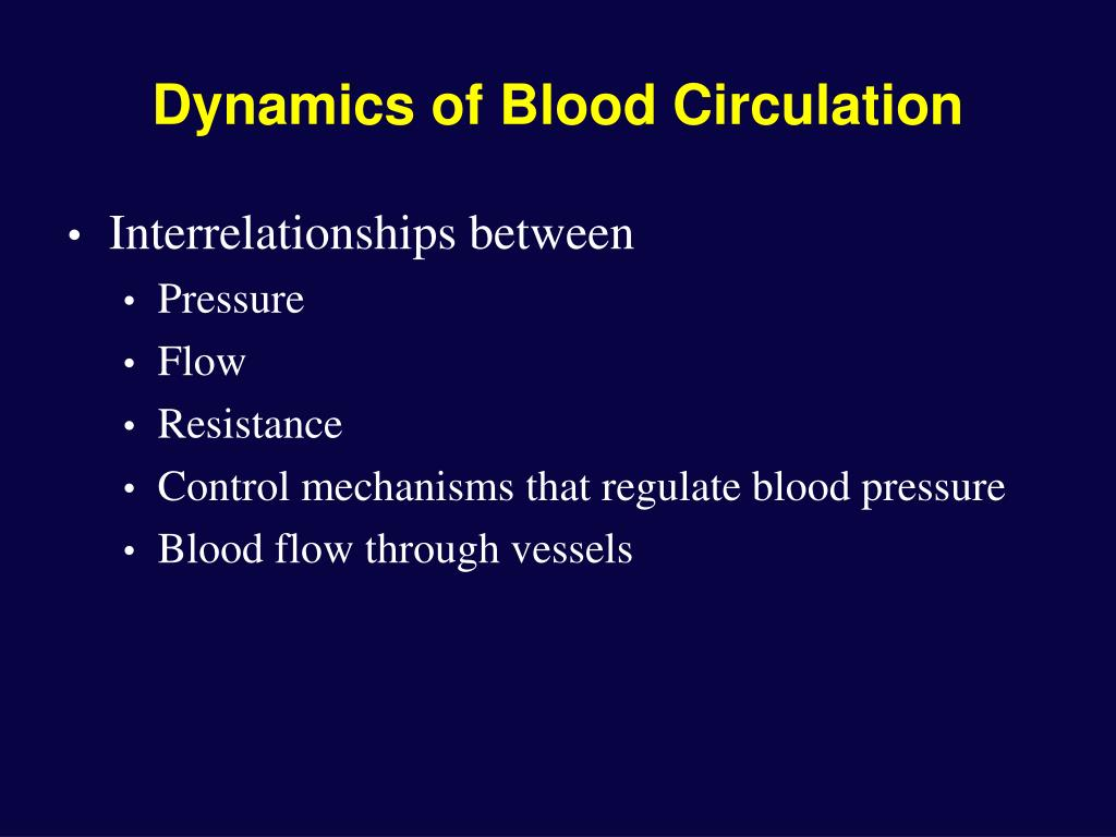 Dynamics of Blood Circulation