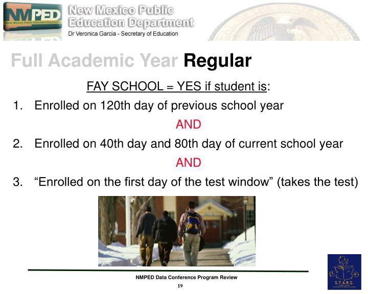 Full Academic Year