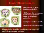major blood groups