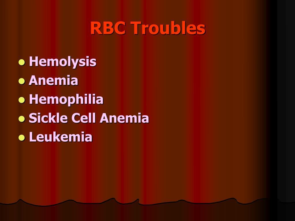 RBC Troubles