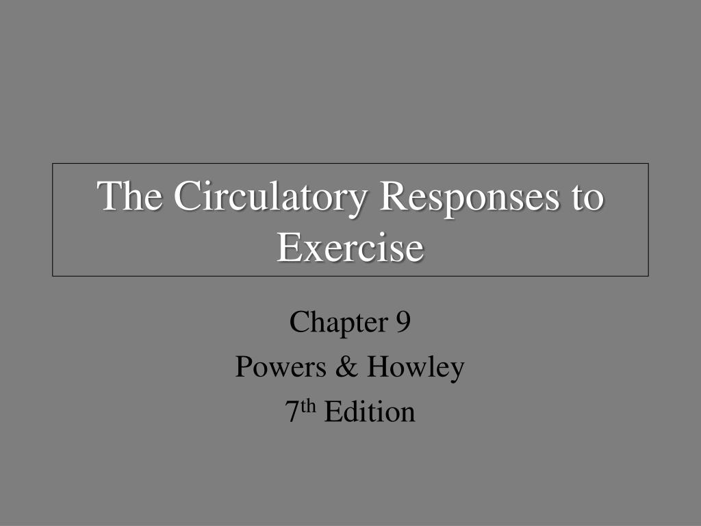 the circulatory responses to exercise l.