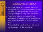 components of hipaa