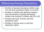 differences among populations