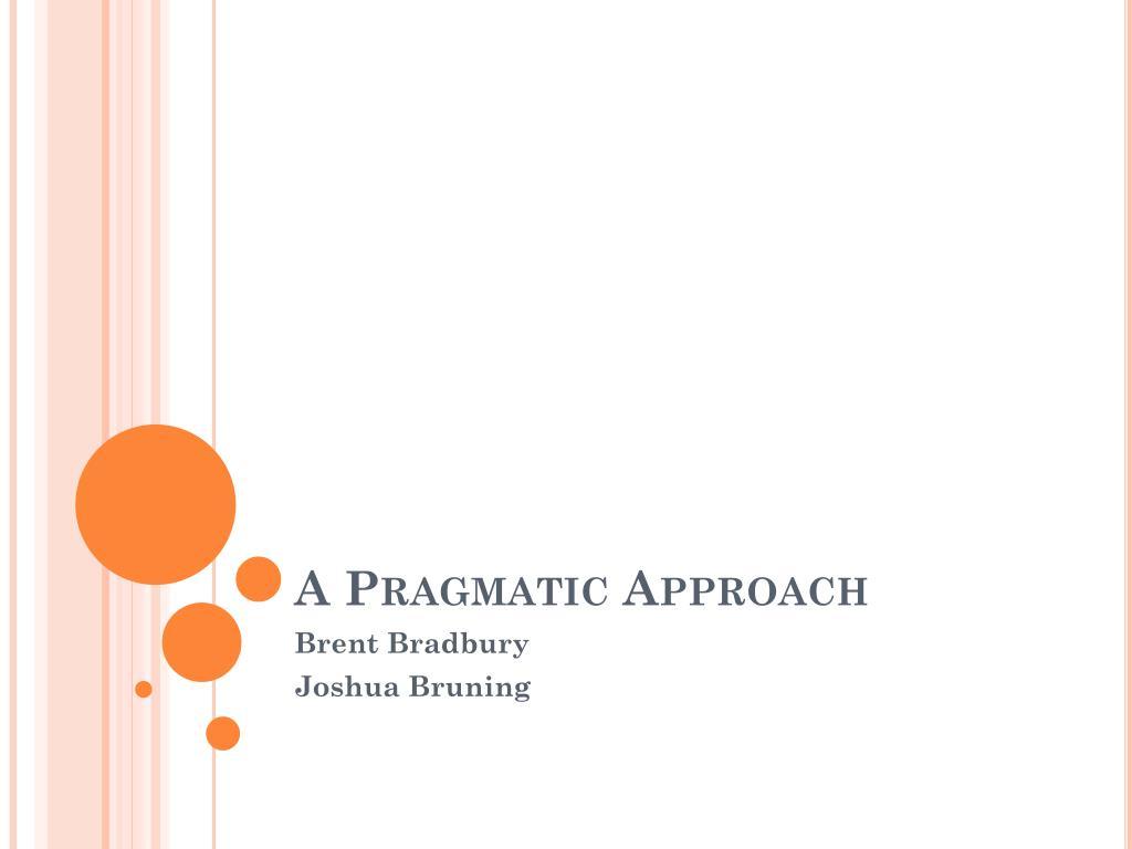 a pragmatic approach l.