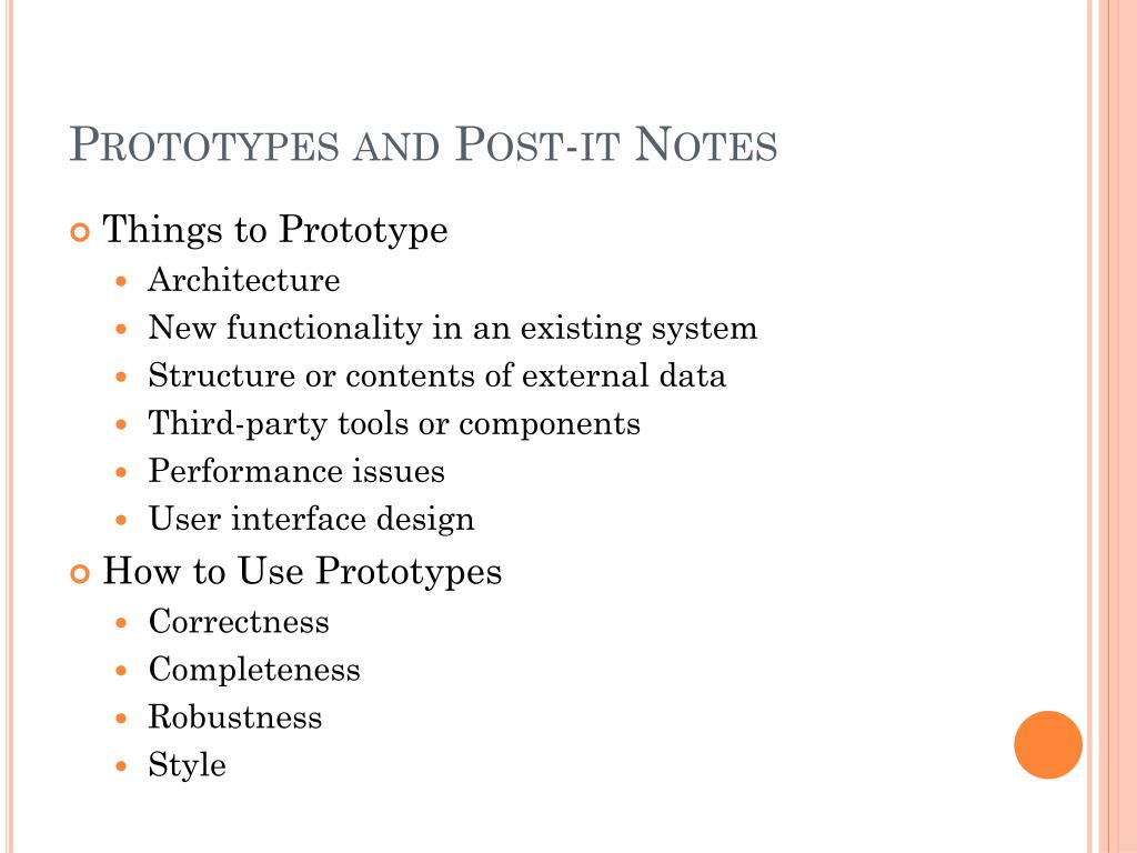 Prototypes and Post-it Notes