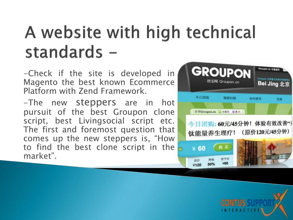 A website with high technical standards -