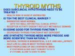thyroid myths