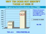 why tsh does not identify those at risk