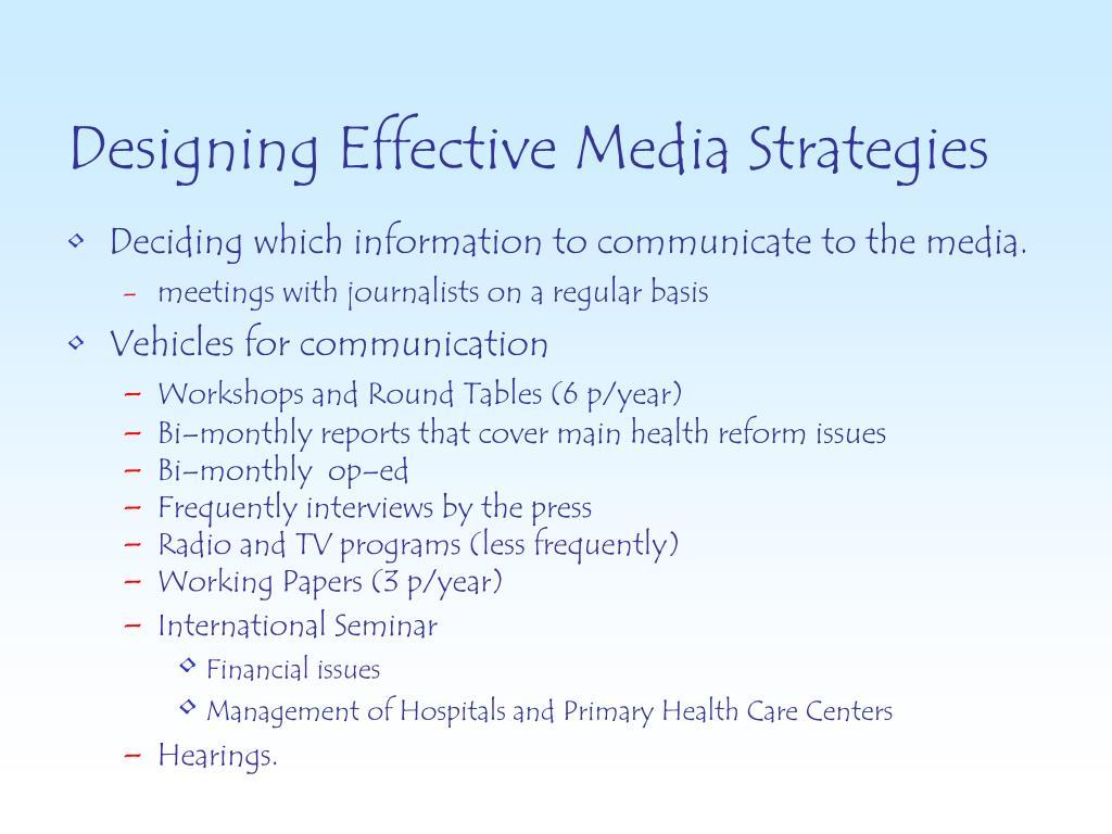 Designing Effective Media Strategies