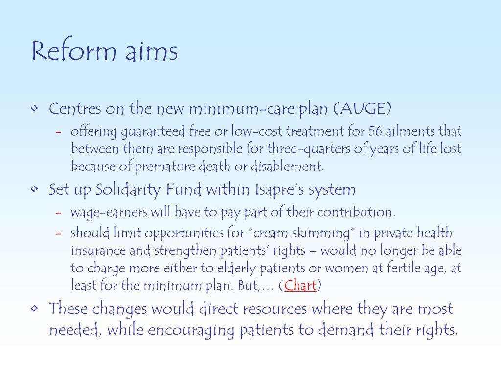 Reform aims