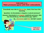 pass gum 3 1 d make pronouns agree with their antecedents26