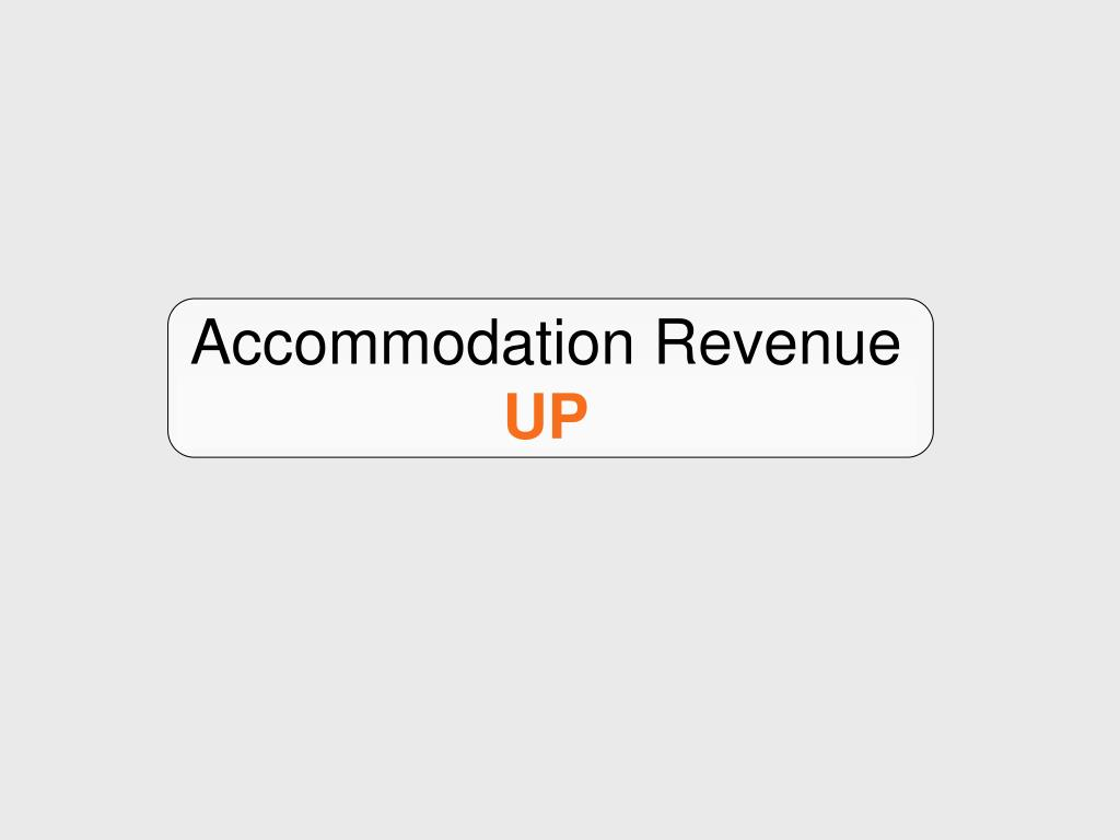 Accommodation Revenue