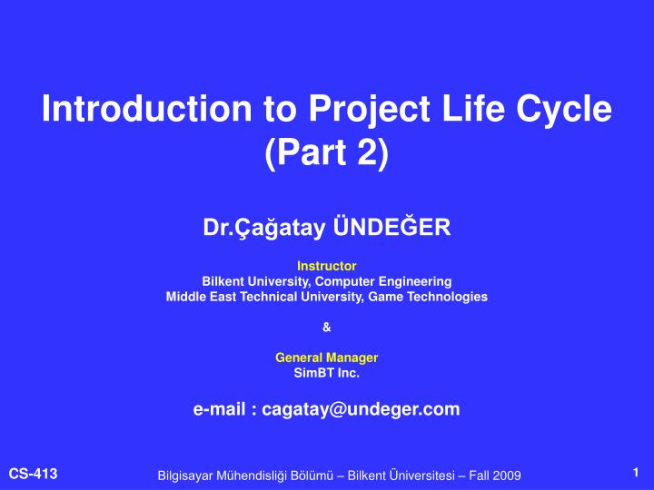 introduction to project life cycle part 2 n.