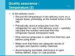 quality assurance temperature 2