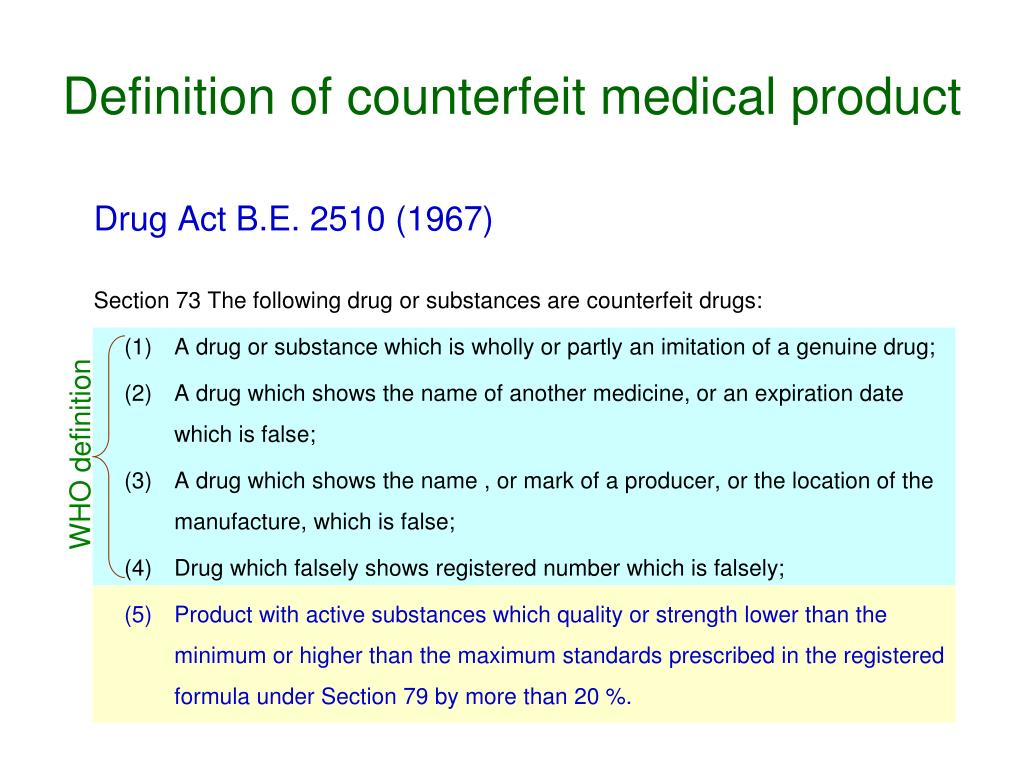 definition of counterfeit medical product l.