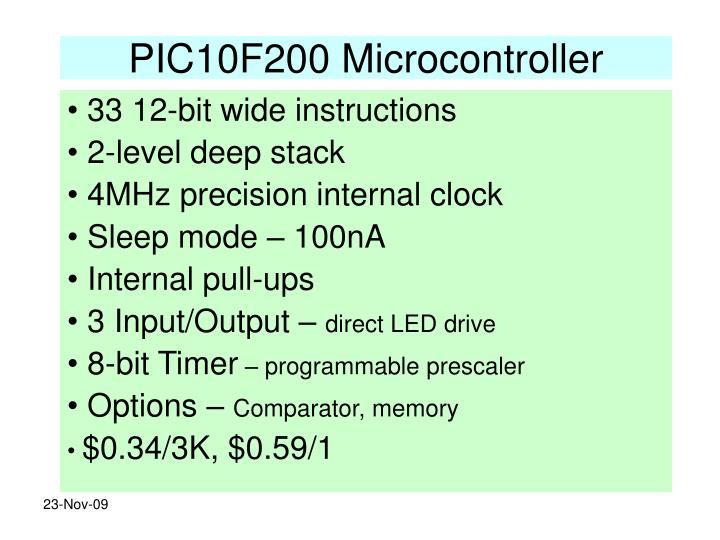PIC10F200 Microcontroller