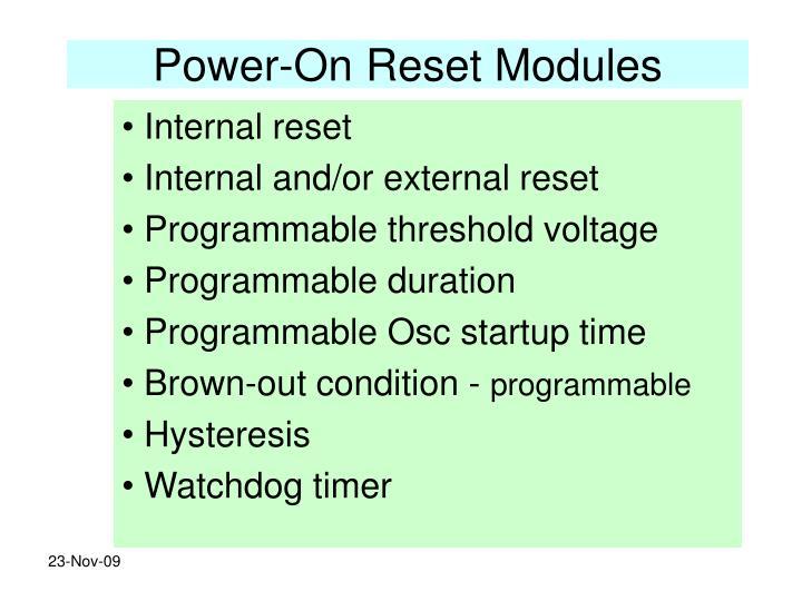 Power-On Reset Modules