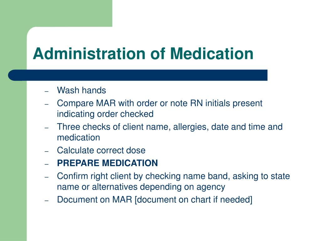 Administration of Medication