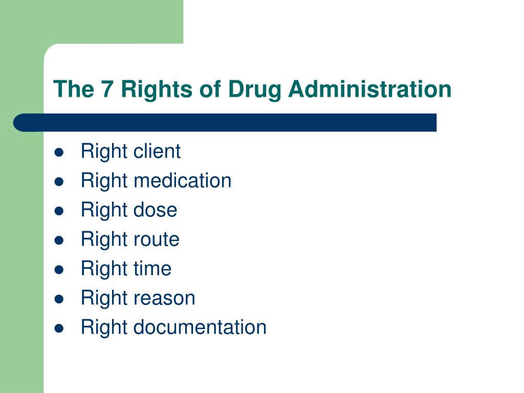The 7 Rights of Drug Administration