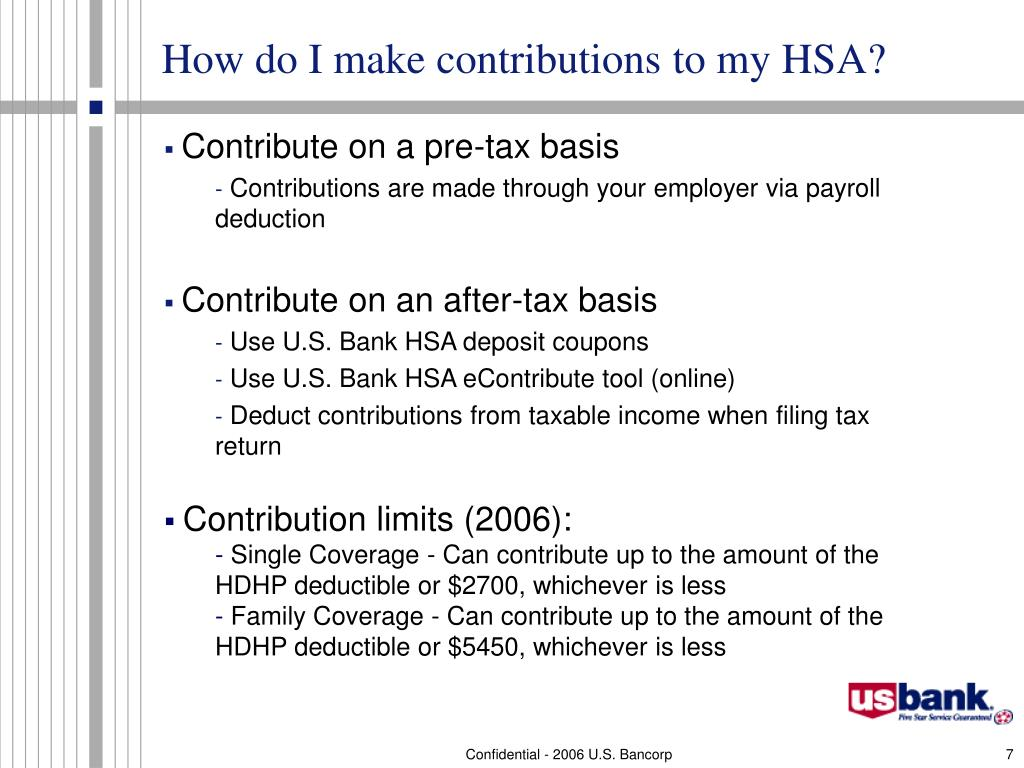 How do I make contributions to my HSA?