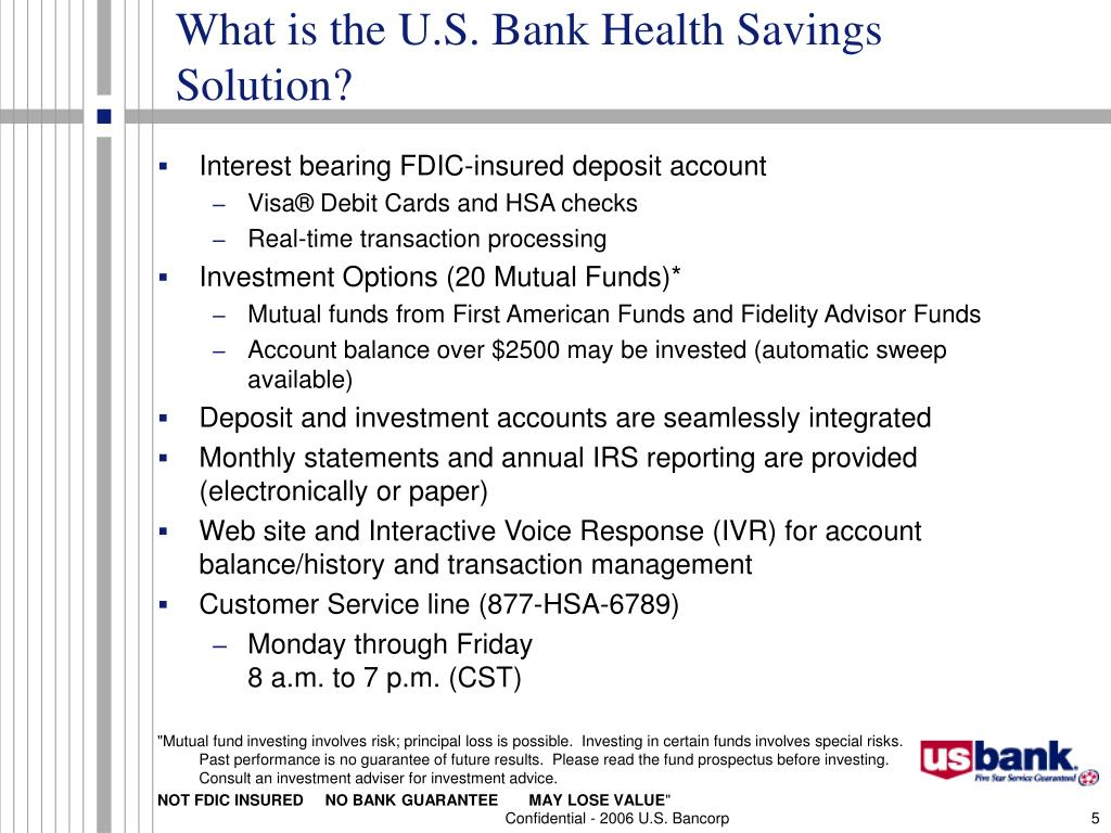 What is the U.S. Bank Health Savings Solution?