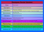 diazepam rectal solution