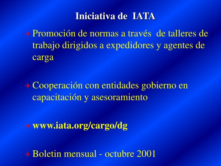 Iniciativa de  IATA