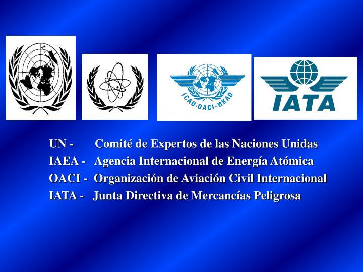 UN -       Comité de Expertos de las Naciones Unidas