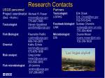 research contacts