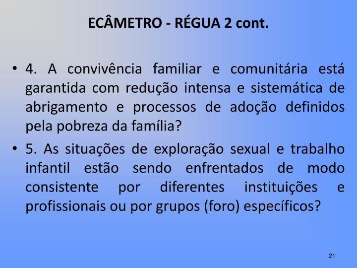 ECÂMETRO - RÉGUA 2 cont.