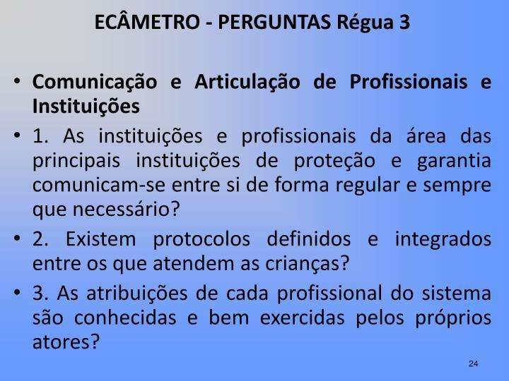 ECÂMETRO - PERGUNTAS Régua 3