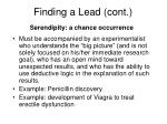 finding a lead cont