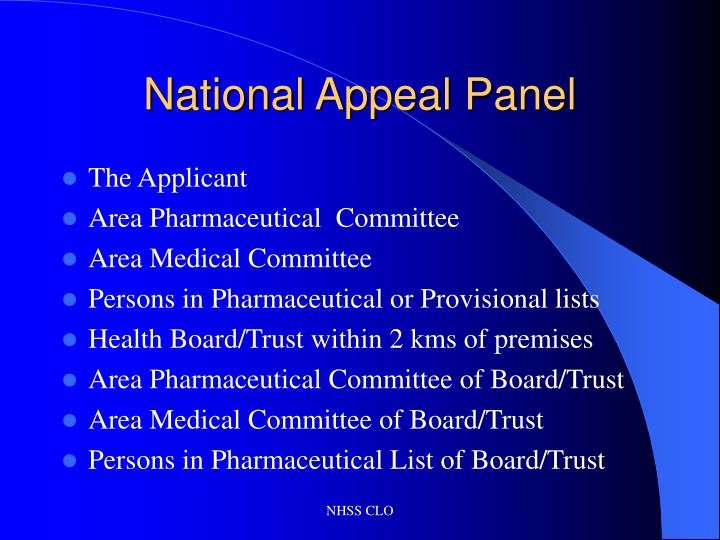 National appeal panel3