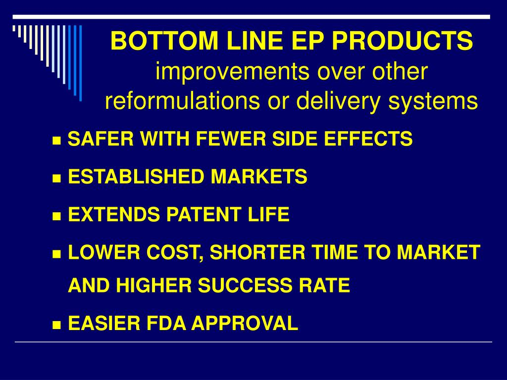 BOTTOM LINE EP PRODUCTS