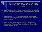 scientific advisor board cont