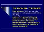 the problem tolerance