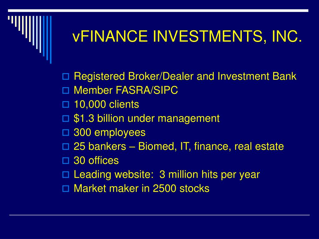 vFINANCE INVESTMENTS, INC.