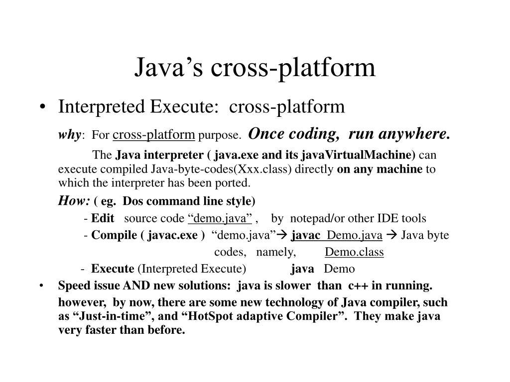 Java's cross-platform