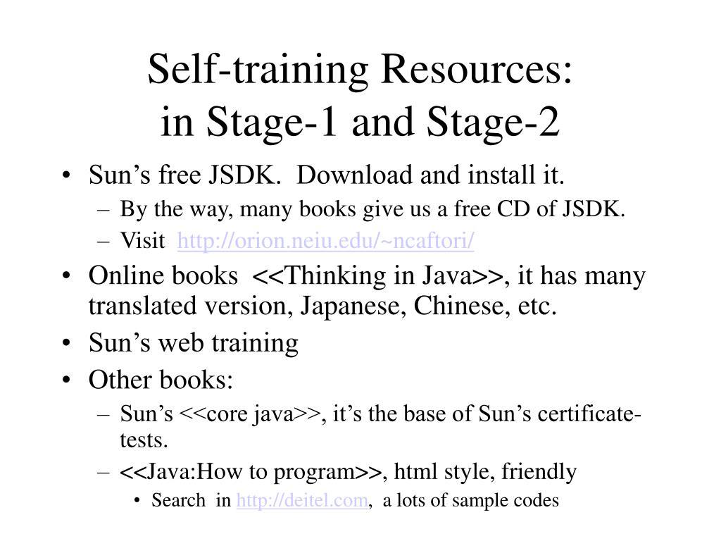 Self-training Resources: