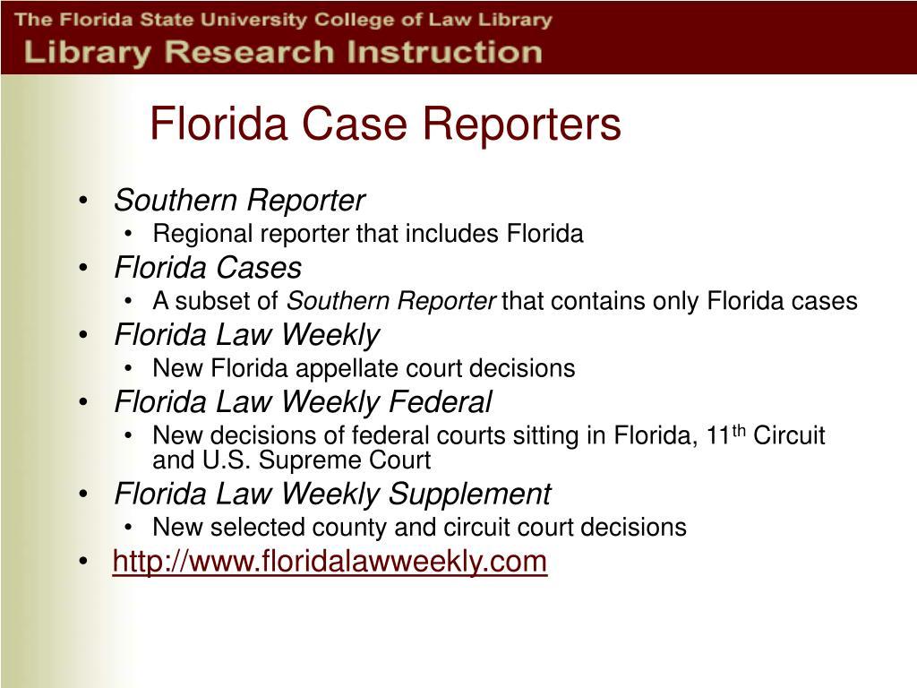 Florida Case Reporters