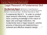 legal research a fundamental skill