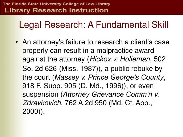 Legal research a fundamental skill3