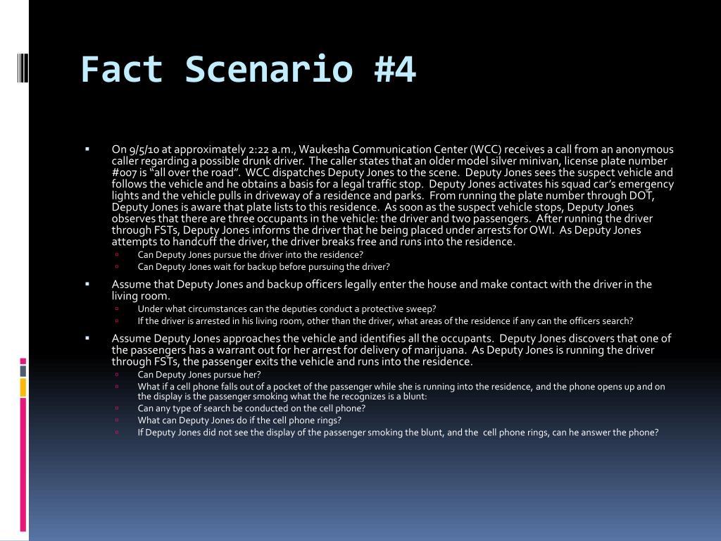 Fact Scenario #4