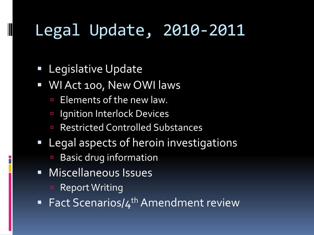 Legal Update, 2010-2011