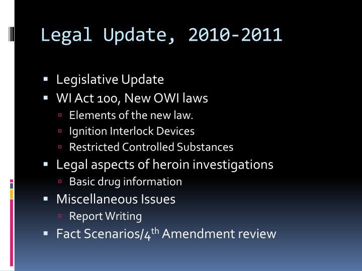 Legal update 2010 2011